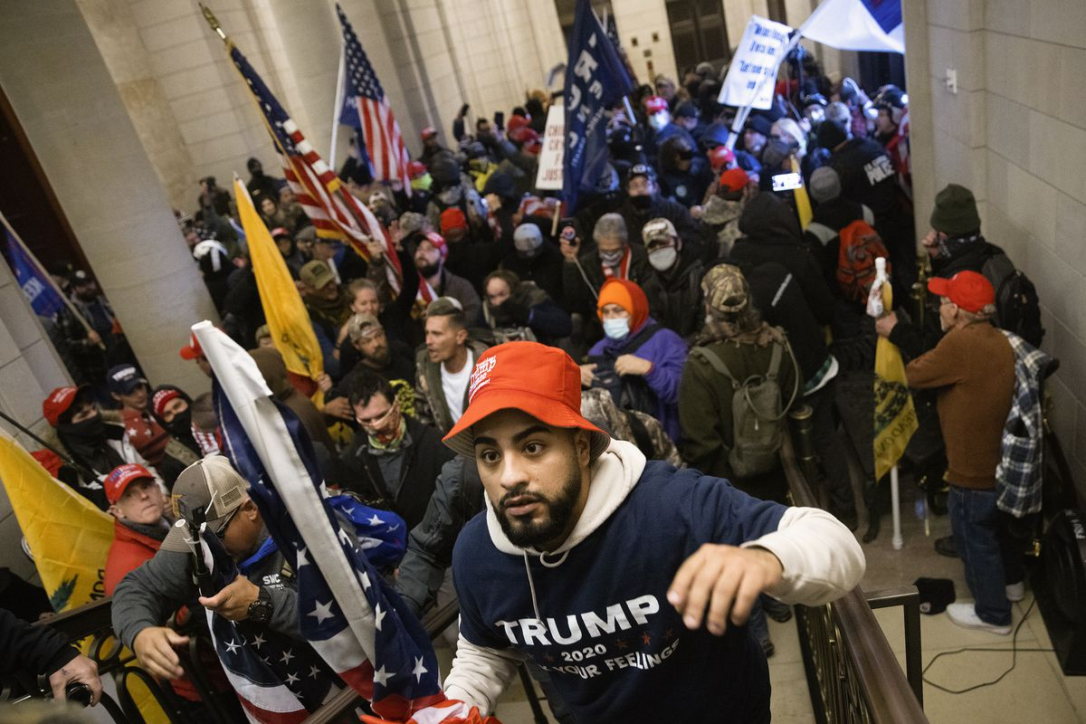 A pro-Trump mob breaks into the US Capitol on January 6.  Win McNamee/Getty Images
