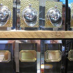 Coffee dispensers.