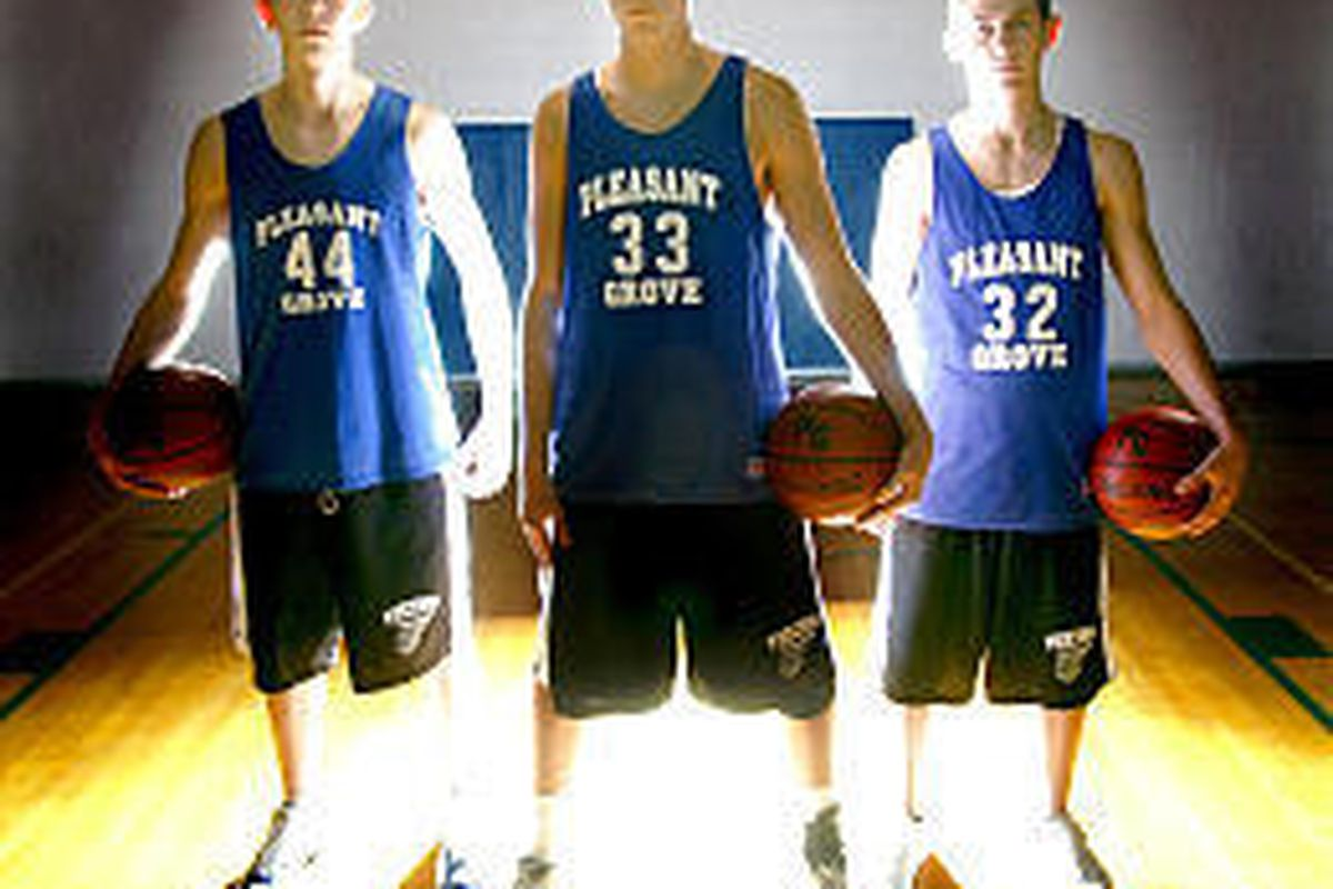 Pleasant Grove's Spencer Clement, Matt Hardman and Jayden Gray are part of an athletic team with excellent speed and quickness.