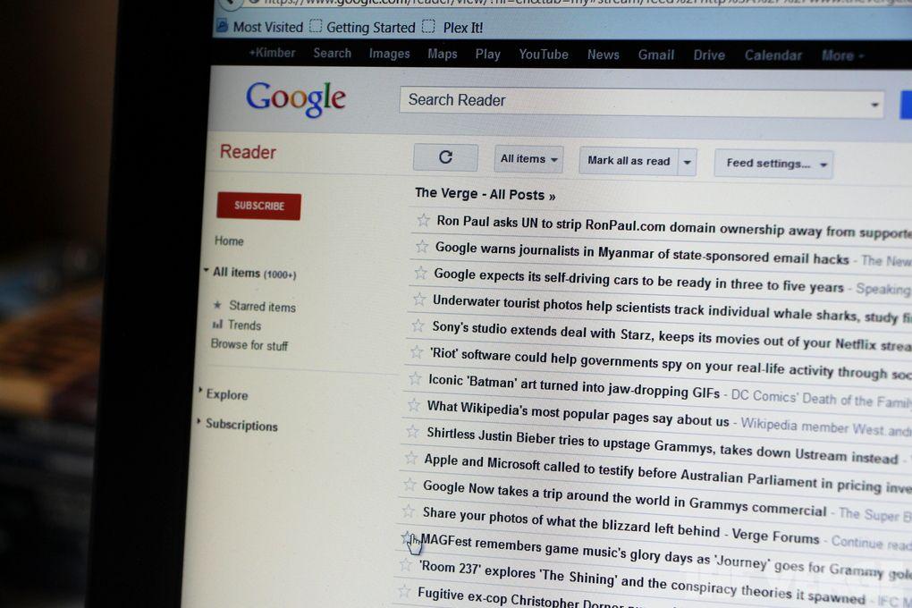 Google Reader stock