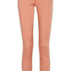 """<a href=""""http://www.net-a-porter.com/product/191616"""">Burberry Brit Cropped skinnycotton-blend pants</a>, $112.50 (was $225)"""