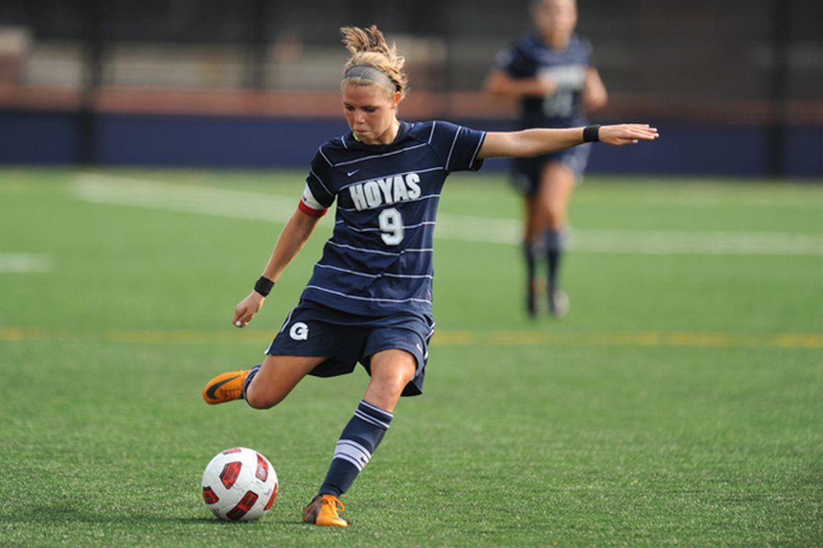 Ingrid Wells, the newest midfielder for the Washington Spirit