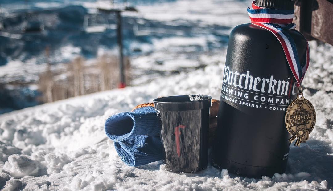 Butcherknife Brewing Co. beer with medal