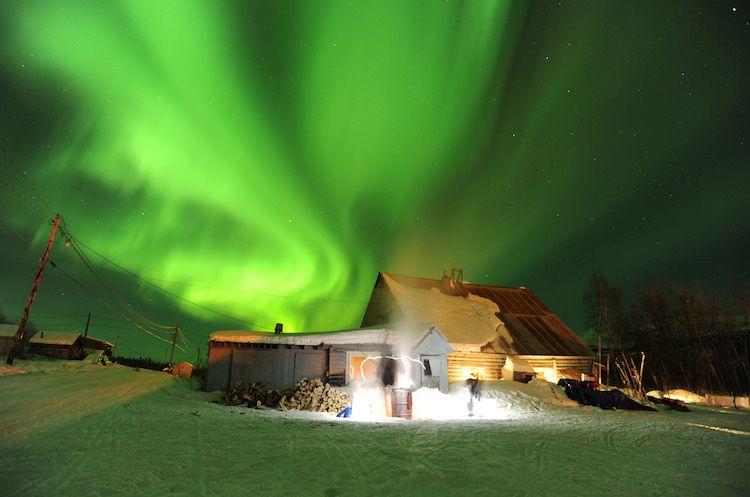 Alaska green northern lights