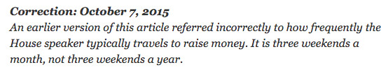 NYT correction