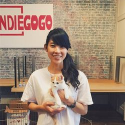 """Indiegogo has helped more than a few Bay Area fashion entrepreneurs fund their companies, but none of those projects could be half as satisfying as holding a kitten. Image via <a href=""""http://instagram.com/p/uwpZBKnIVx/"""">Instagram</a>."""