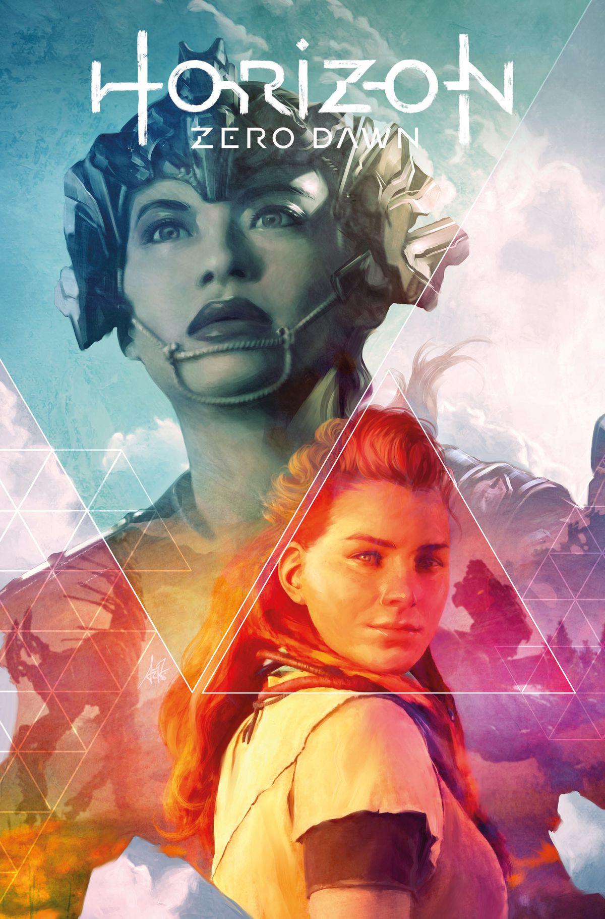 Cover of Horizon Zero Dawn #1, Titan Comics (2020) with Talanah and Aloy