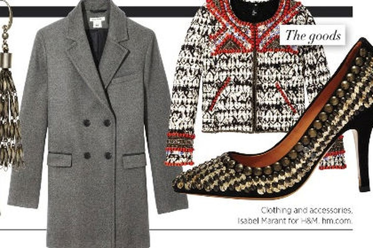 Isabel Marant for H&M as pictured in Harper's Bazaar.