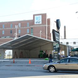 Sat 3:26 p.m. ent being set up in the parking lot across from the ballpark, between the 7-Eleven and Starbucks -