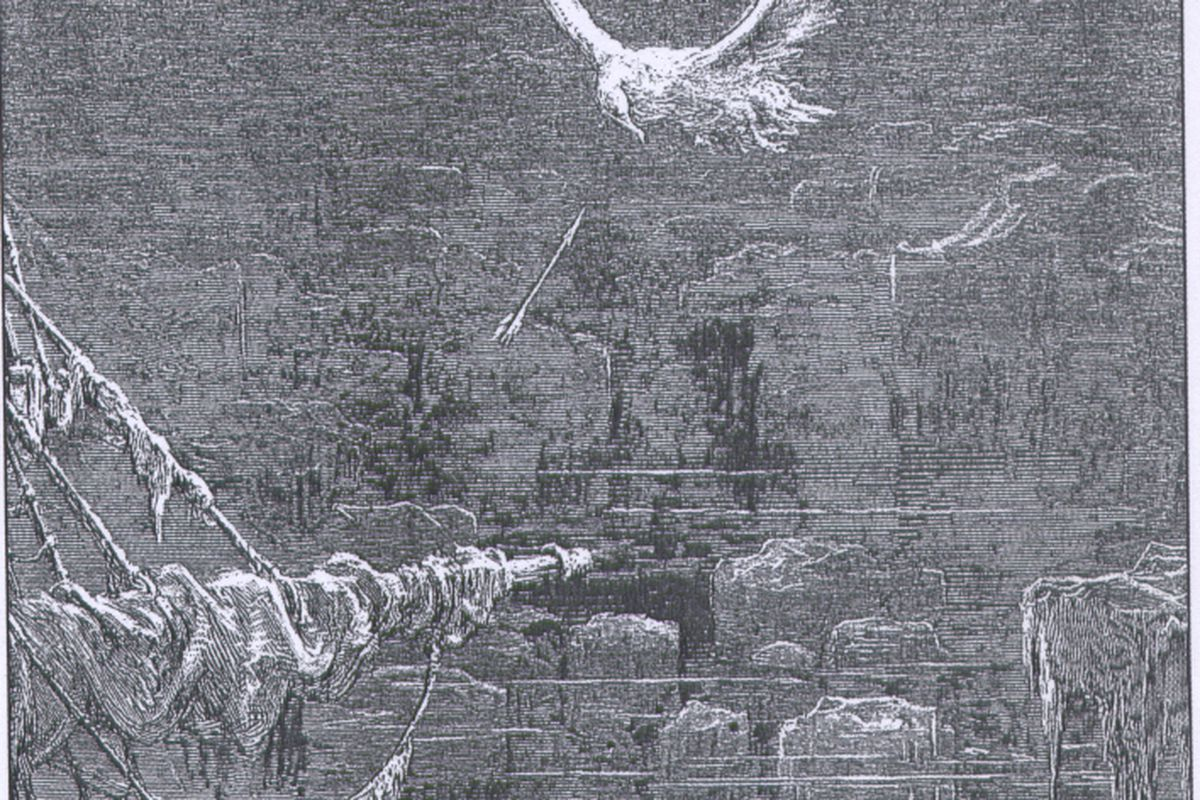 """Illustration by Gustave Doré. via <a href=""""http://upload.wikimedia.org/wikipedia/commons/2/2b/The_rime_of_the_ancient_Mariner_-_Coleridge.jpg"""">upload.wikimedia.org</a>"""