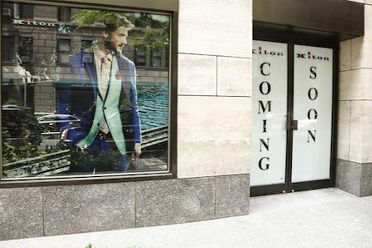 "Image via <a href=""http://www.wwd.com/menswear-news/designer-luxury/kiton-to-open-at-four-seasons-7698075"">WWD</a>"