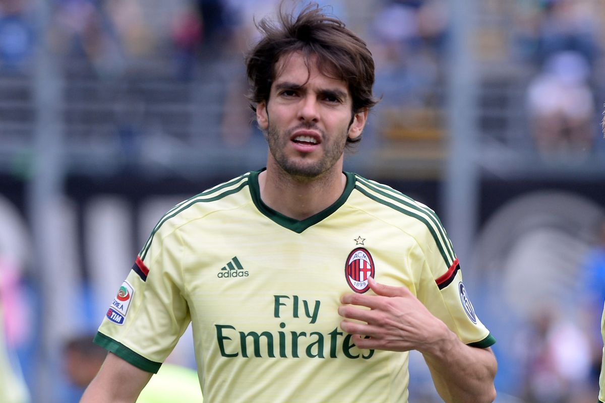 """Kaka: """"You guys know its ironic that im wearing a top that looks like the Brazil shirt yeah? You guys know I've not been called up yeah? Oh, you do?!"""""""