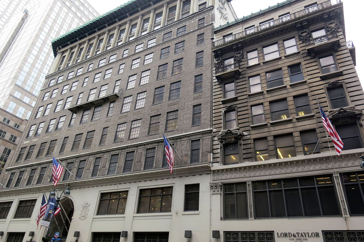 The Lord & Taylor building on Fifth Avenue that Hudson's Bay just sold to WeWork for $850 million.