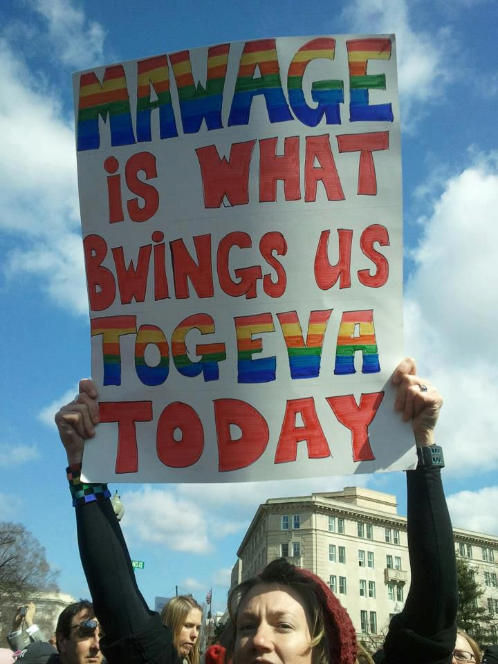 The 11 Funniest Signs Opposing DOMA and Prop 8