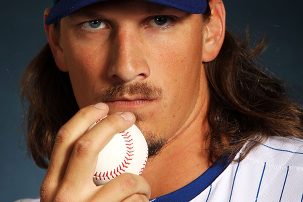MESA, AZ - FEBRUARY 27:  Jeff Samardzija #29 of the Chicago Cubs poses during spring training photo day on February 27, 2012 in Mesa, Arizona.  (Photo by Jamie Squire/Getty Images)