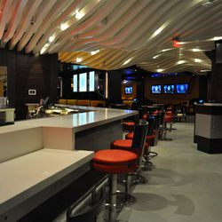 The first view of the BurGR bar area.