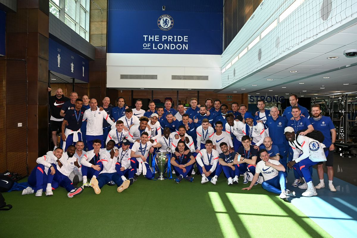 The Chelsea Squad Return to Their Training Ground Following Winning the UEFA Champions League