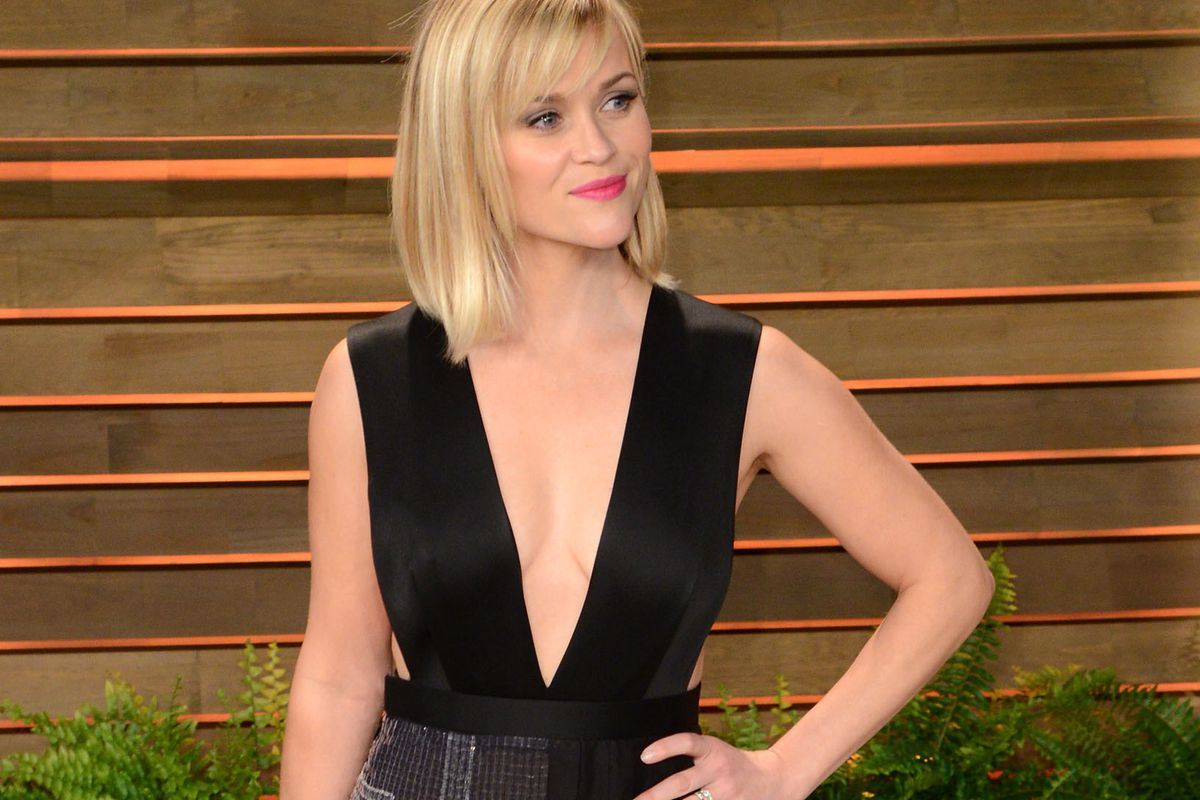 Reese Witherspoon at the Vanity Fair Oscars after party, via Getty