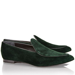 Suede pointed toe flats, $99 (available in gray)