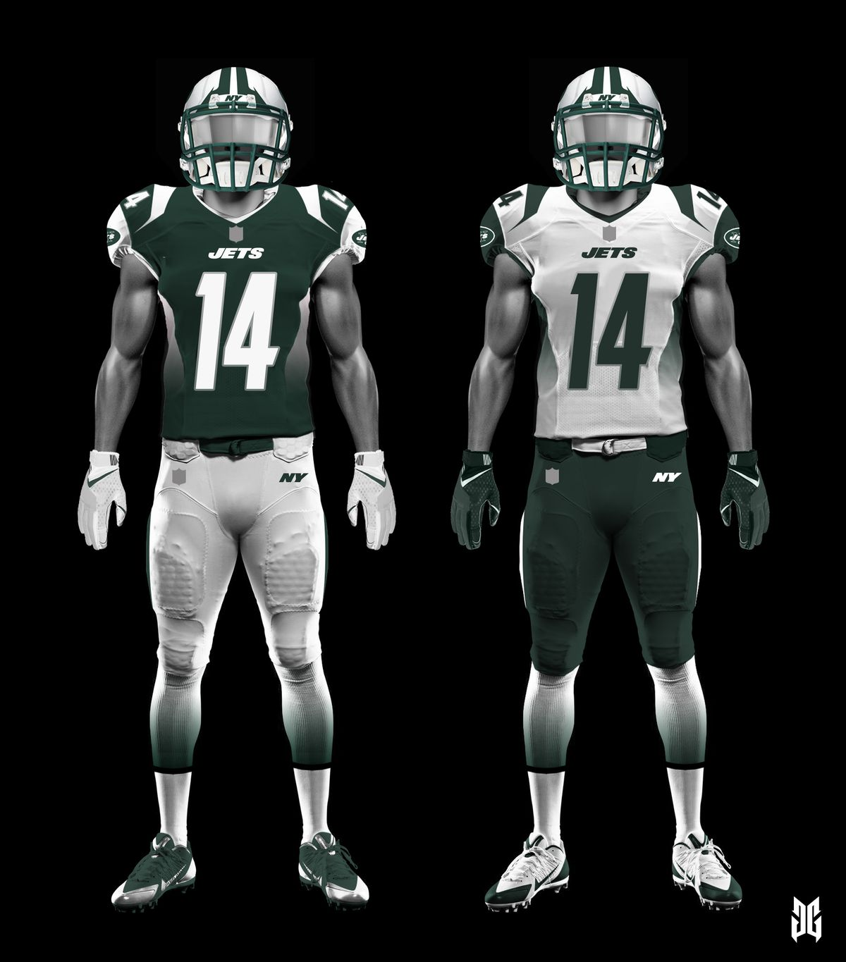 New Jets uniforms designed by fans of the team Gang Green Nation