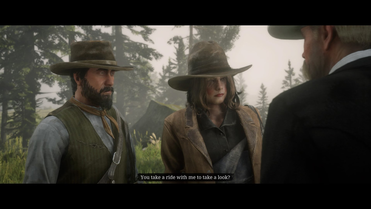 Red Dead Online - two players accept a mission.