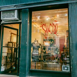 """<b>↑</b> The name <b><a href="""" http://www.sucrenyc.com/"""">Sucre</a></b> (357 Bleecker Street) is fitting for this shop: everything in here has eye-candy status. Founded by former Patricia Fields buyer Candace Mohr and Selima Salaun of Selima Optique, the s"""