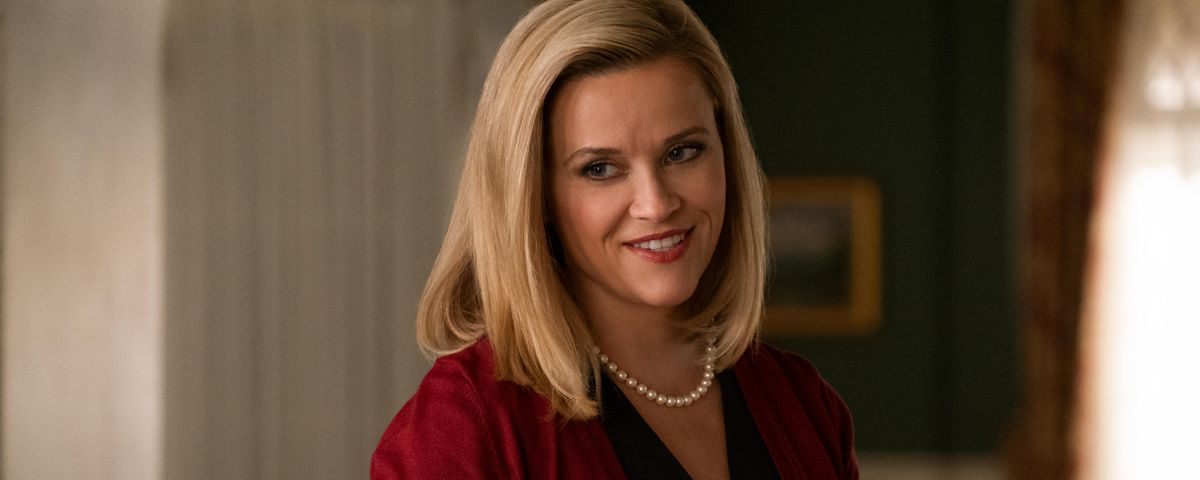 elena richardson in a polished cardigan