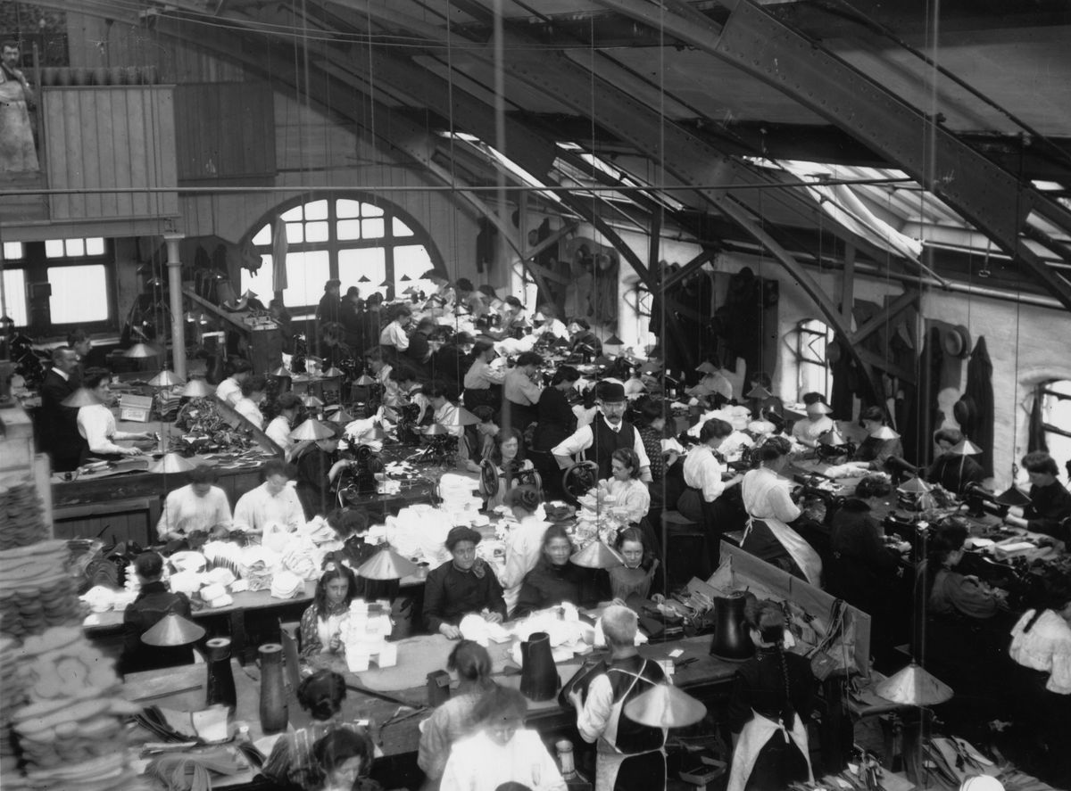 A Manchester clothes mill, 1909. This is not the world Adam Smith envisioned when he championed free markets.