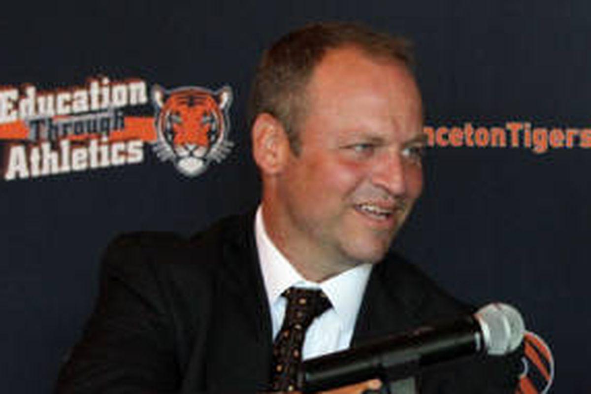 Princeton hockey coach Ron Fogarty