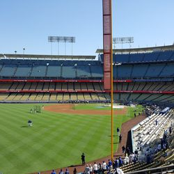 View from the LF corner. This is a very, very large stadium