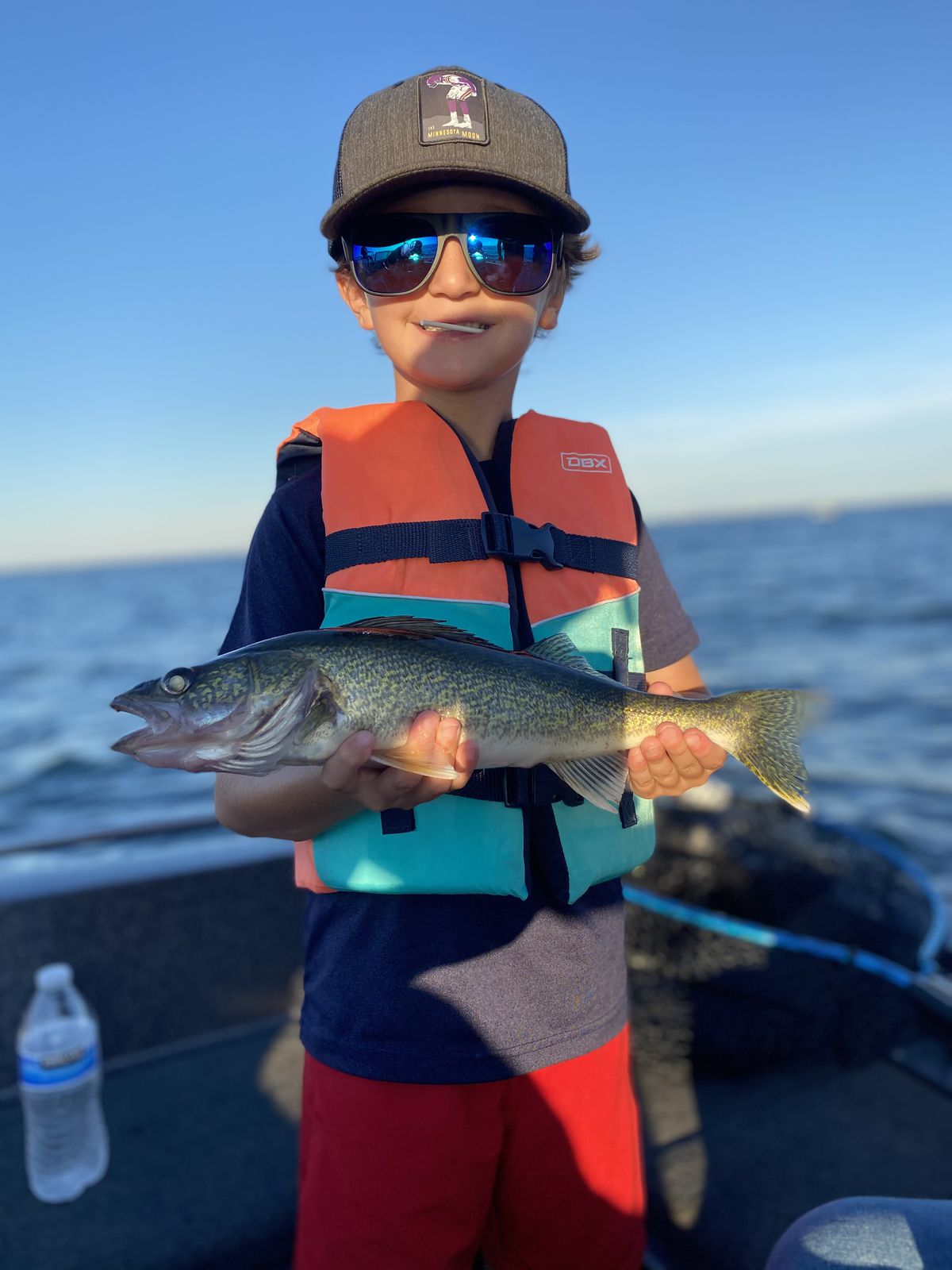 Emerson with a beautiful walleye from Mille Lacs. Provided by McQuoid's Inn