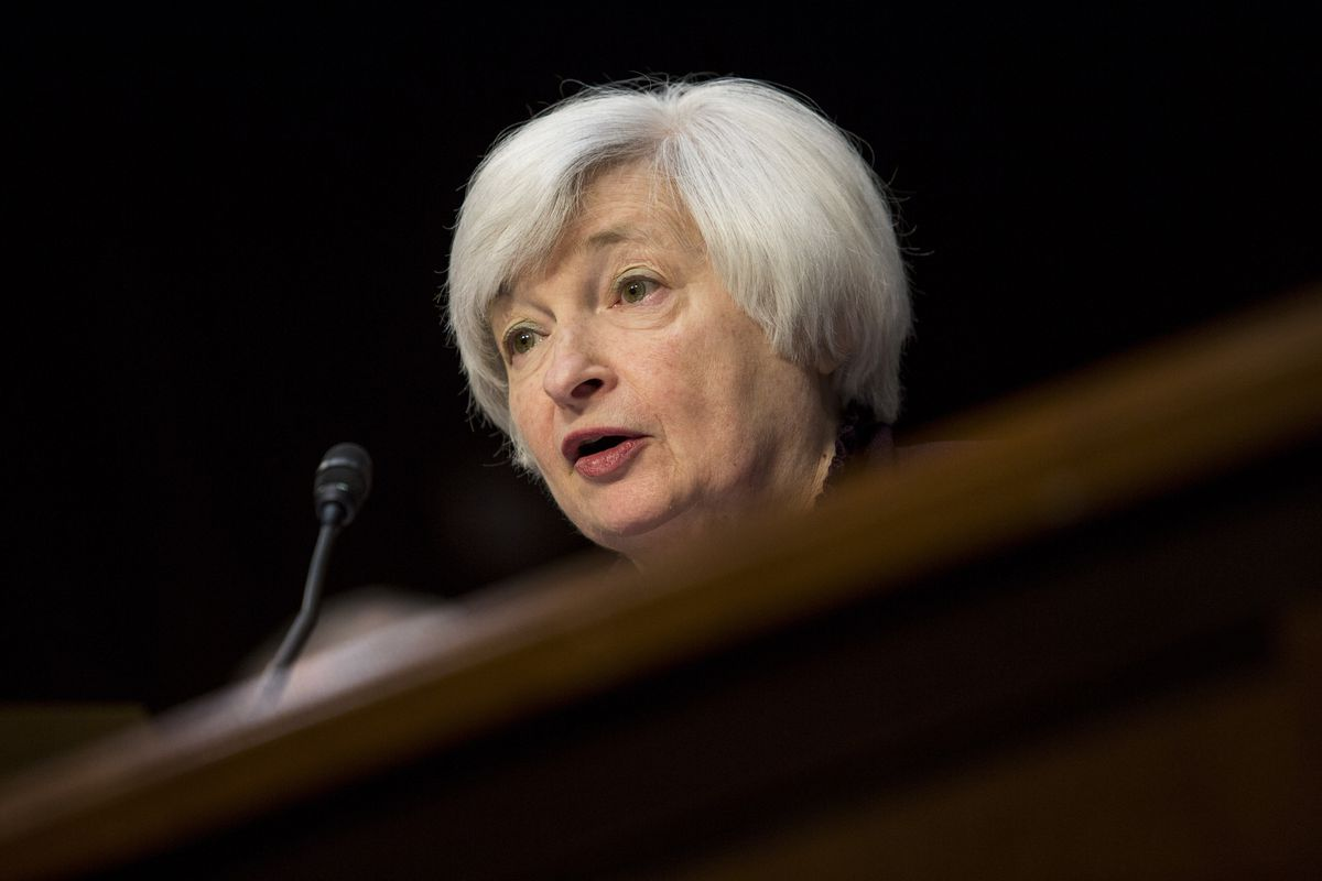 Janet Yellen has her foot on the economy's gas pedal...for now.