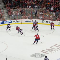 Power Play Faceoff Pass to Ovechkin