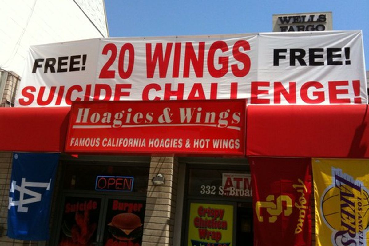 Nothing whets an appetite more than a suicide challenge.