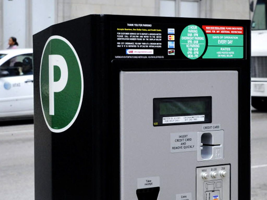 One of the parking kiosks installed after Chicago's parking meters were privatized. | Sun-Times files