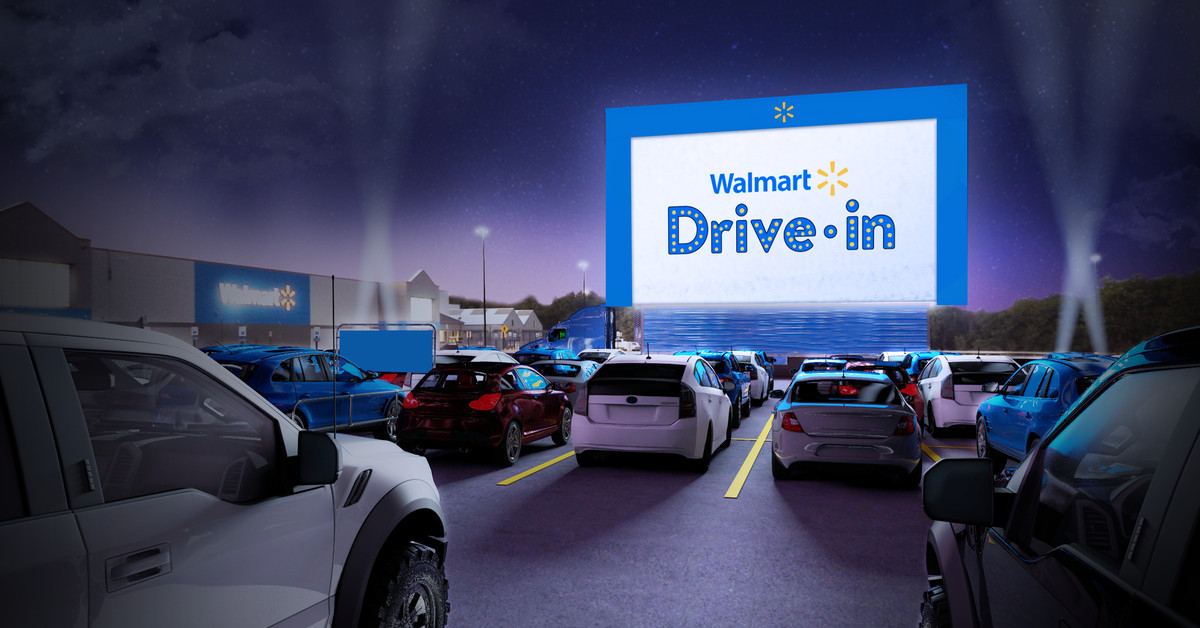 Walmart is converting its parking lots into pop-up drive-in theaters for the summer