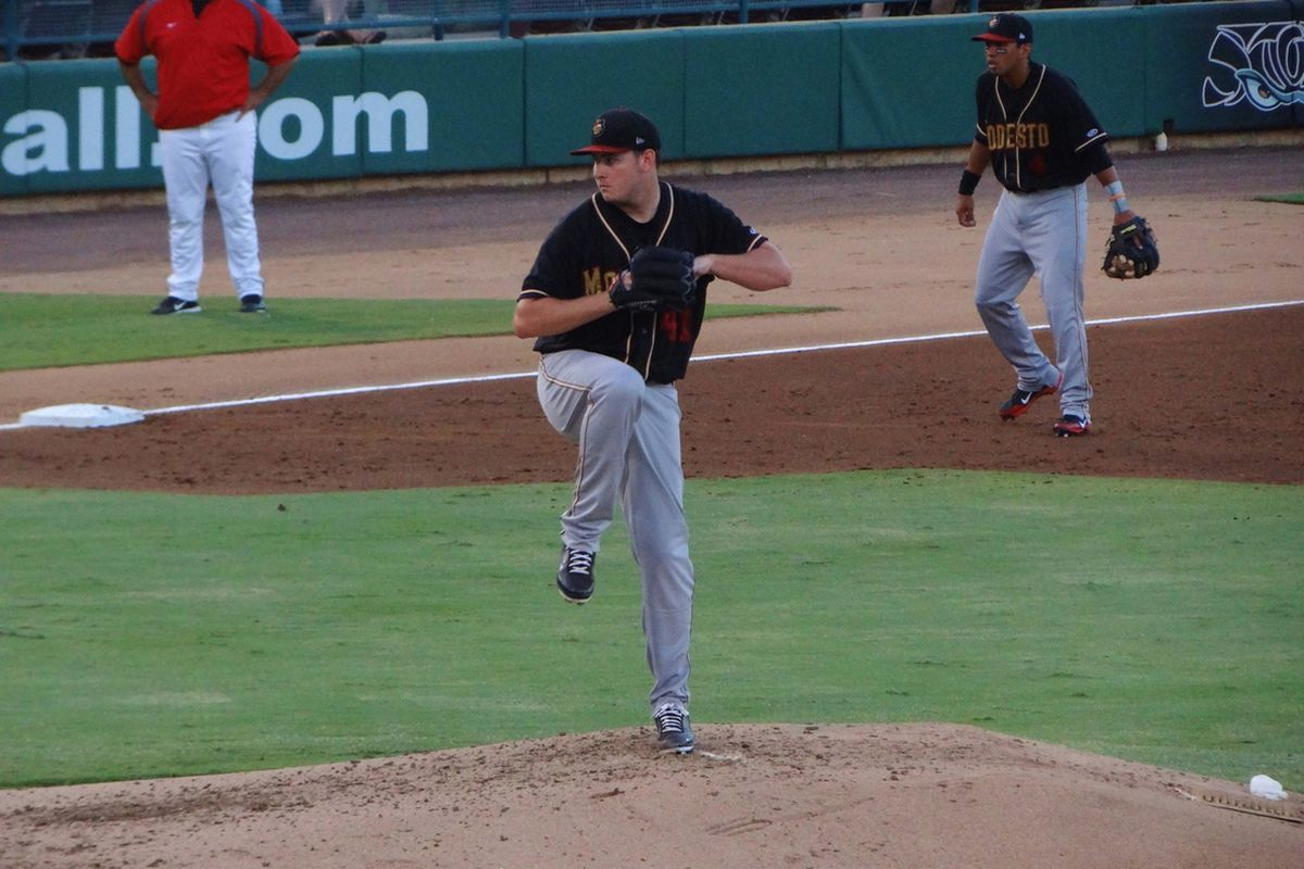 Tyler Matzek back in the day with Modesto.