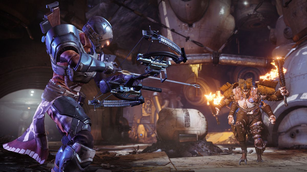 Destiny 2: Forsaken - Titan aiming bow at a Scorn in Gambit