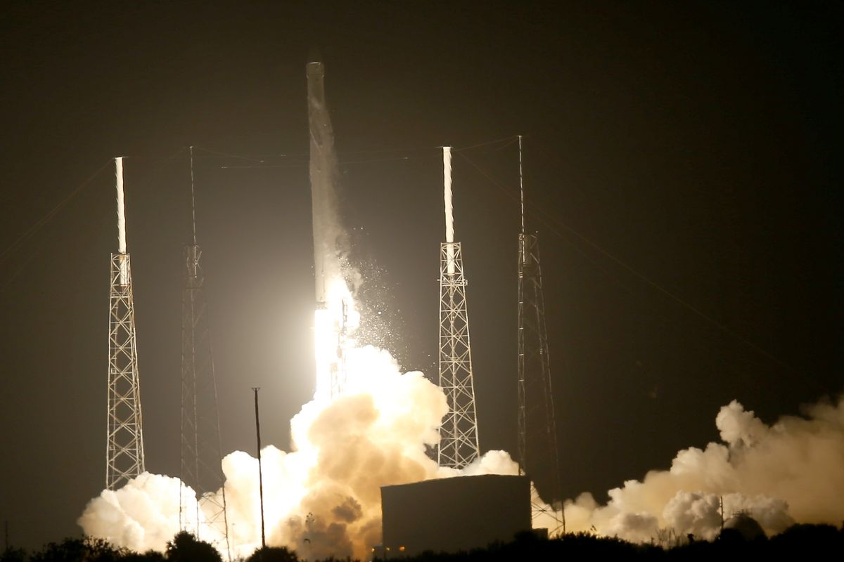 SpaceX launches 1st recycled cargo ship