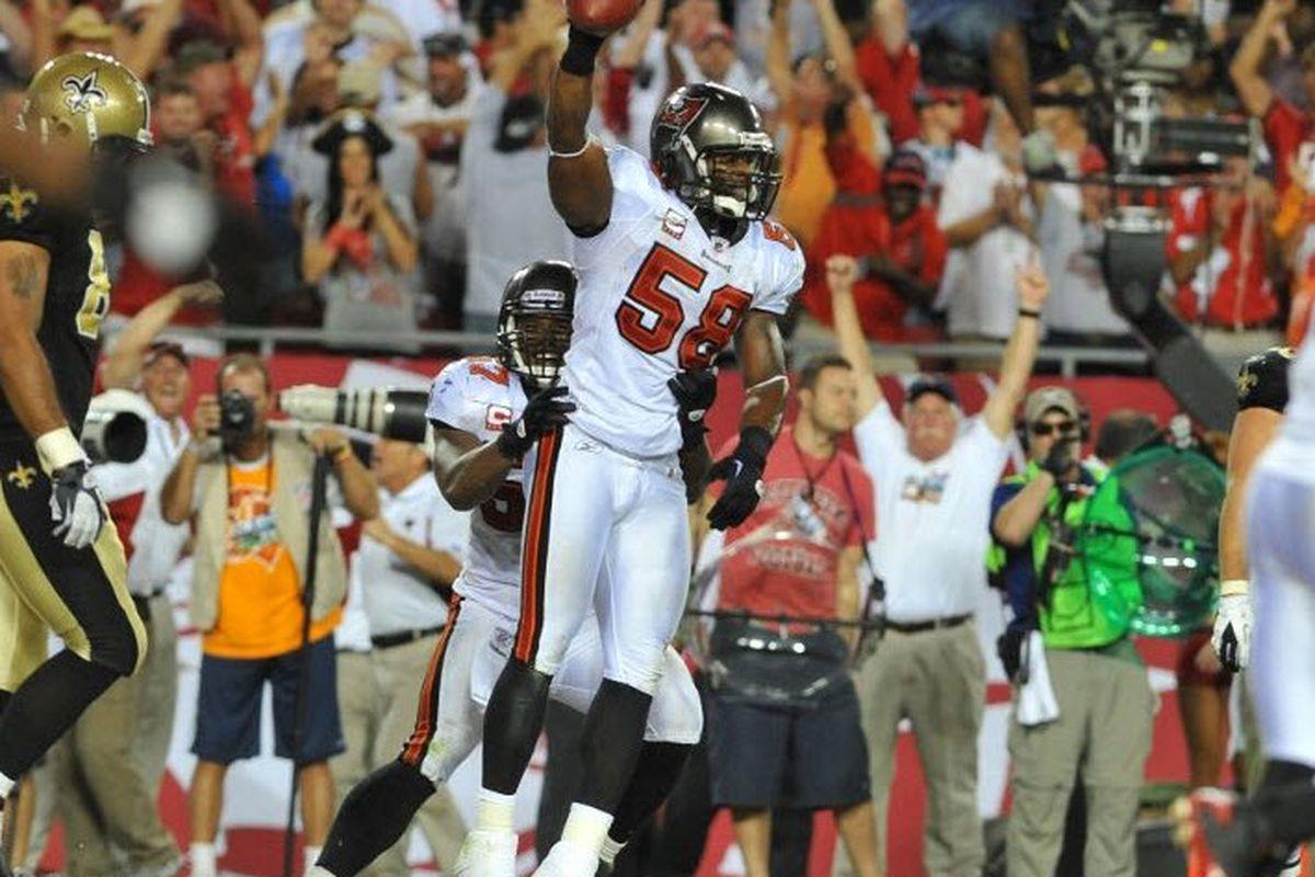 Quincy Black ends the Saints' last offensive threat.