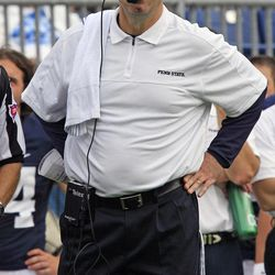 FILE - In this Sept. 1, 2012, file photo, Penn State head coach Bill O'Brien stands on the sidelines during the first quarter of an NCAA college football game against Ohio at Beaver Stadium in State College, Pa. Week 2 brings another milestone for Penn State's season of change: The first road trip. The Nittany Lions are prepared for anything, whatever the reaction they get at Virginia.