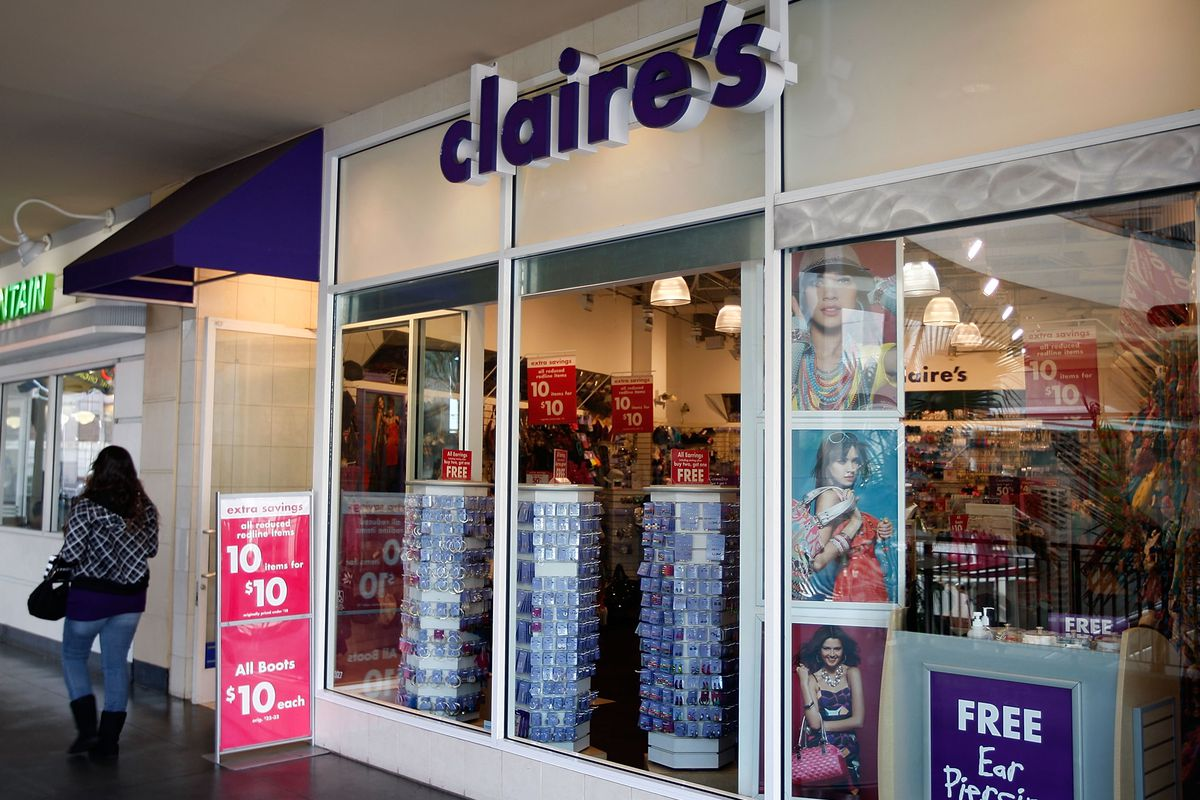 A Claire's storefront. Photo: David McNew/Getty Images