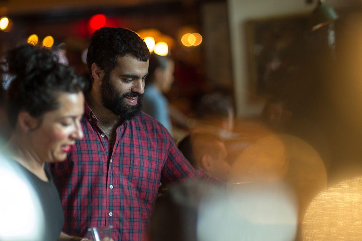 [Gabe Stulman at Fedora's sister restaurant, Perla]