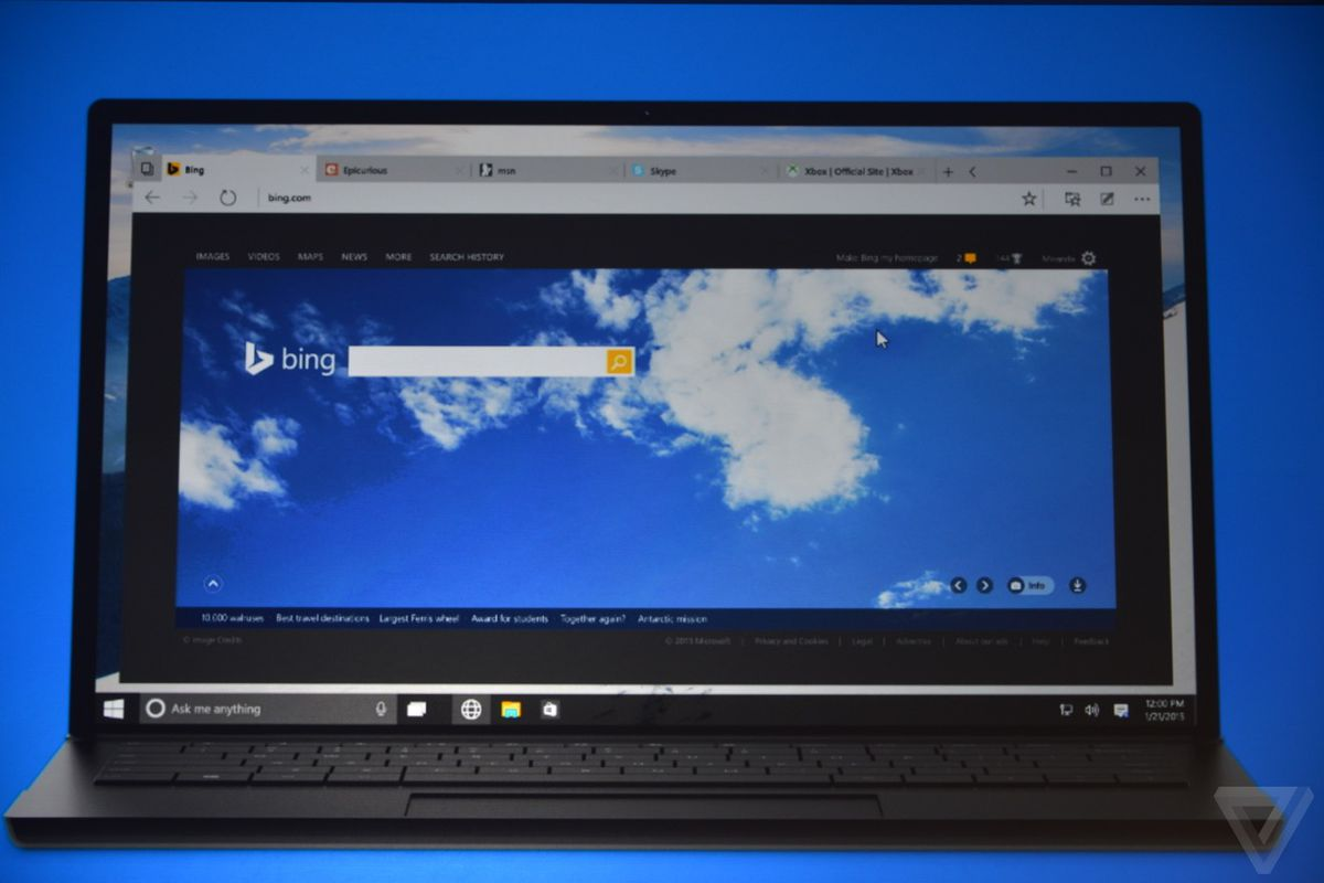 Microsoft reveals Windows 10 will ship with two browsers