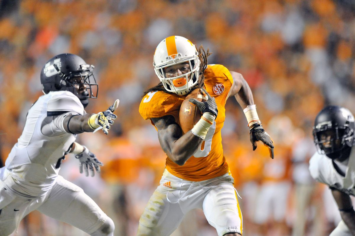 Newcomer Von Pearson was one of many Vols to step up in the passing game