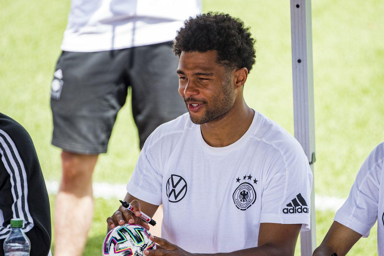 Back early ? Bayern Munich?s Serge Gnabry back in team training at Säbener Straße