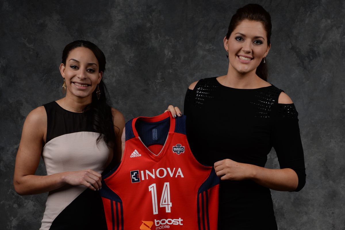 Bria Hartley and Stefanie Dolson were teammates at UConn where they won two straight NCAA championships. Now they're teammates for the Washington Mystics.