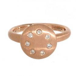 """Gabriel and Co Rose Gold Diamond Circle Ring, <a href=""""http://www.greenwichjewelers.com/store/designers/gabriel/products/gabriel-and-co-rose-gold-diamond-circle-ring#"""" target=""""_blank"""" rel=""""nofollow"""">Greenwich Jewelers</a>, $700"""