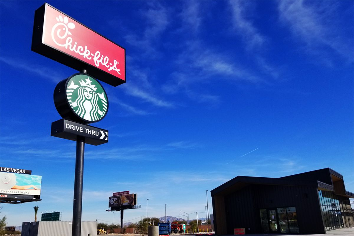 The long delayed future home of Chick-fil-A on Las Vegas Boulevard, one mile from the Las Vegas South Premium Outlets.