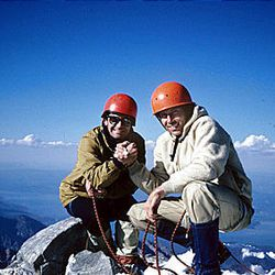 In 1980, Ted Wilson, left, and Rick Reese climbed the East Ridge of the Grand Teton. Wilson was in his second term as Salt Lake City mayor.